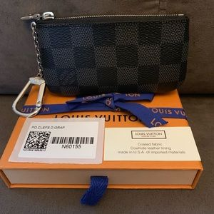 BNIB Louis Vuitton Damier graphite key pouch